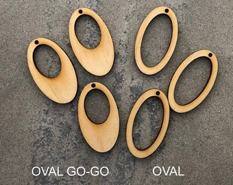 Wood Oval Frames and Go-Go Oval Hoops - Unfinished Blanks