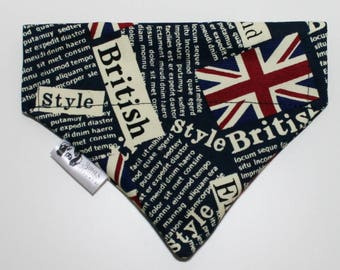British Style Union Jack Dog Bandana Cat Bandana Slip on Collar