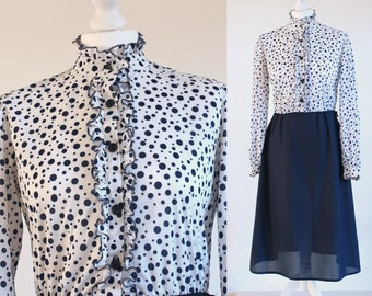 60s mod dress, 60s dress, mod dress, 1960s dress, 60s shift dress, 1960s mod dress, 60s mini dress, polka dot dress, vintage 60s dress