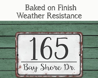 Personalized ADDRESS Sign YOUR NAME Weather Proof Aluminum SIGN FULL COLOR Green