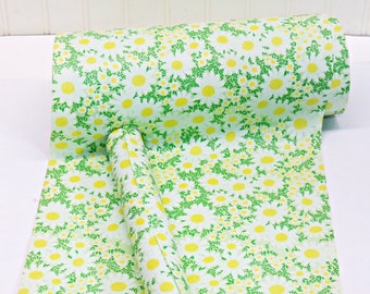 """Vintage Daisy Mod Gift Wrapping Paper 12"""" wide - Minimum of 3++ YDS - Vintage Christmas - Craft Supplies 1960s True Vintage"""