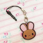 ChibiWorks Bunny Cell Phone Charm with SmartPhone Connector