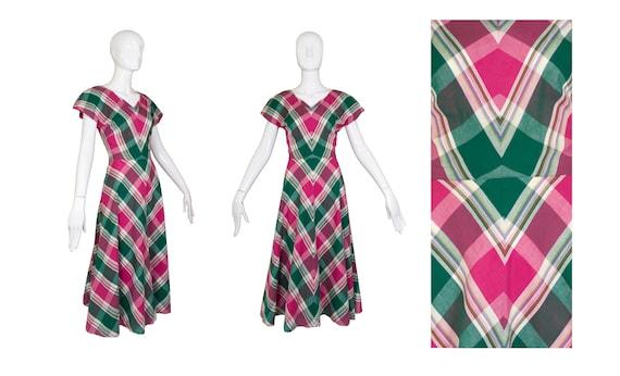 Vintage 1940's Handmade Plaid Dress - image 5