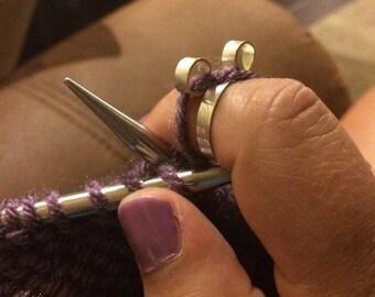 The original knitting crochet ring, yarn ring, stranding ring, knitting gifts, crochet gifts, crochet accessories, knitting tools, crochet