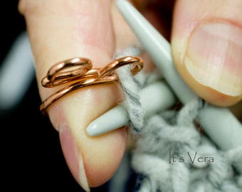 The original 2 loop knitting ring, in magazines, crochet rings, knitting, unique rings, yarn, tools for her, knitting accessories, crochet