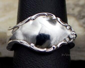Silver spoon rings, Boho rings, 1960s rings, simple rings, 1915 spoon ring, trendy ring, promise rings, gift jewellery, silver ring
