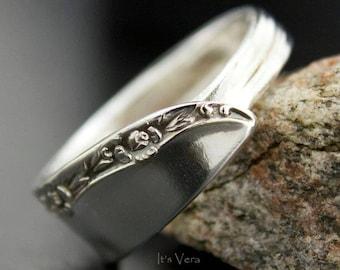 Spoon ring, cutlery ring, promise ring, trendy ring, silver ring, metal ring, guy jewelry, Boho ring, flower ring, narrow rings, rose ring