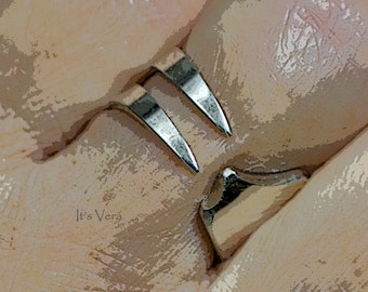 Silver ring, trendy ring, cutlery ring, silver dinner ring, band ring, metal ring, Hippie ring, Boho ring, promise ring, holiday jewellery