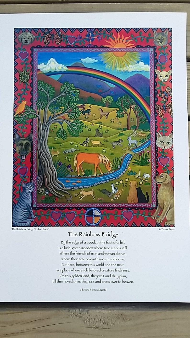 poster Lakota Sioux Legend giclee Diana Bryer The Rainbow Bridge ...