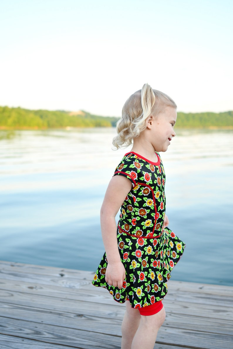 Ready to ship girls size 4 swimsuit Modest swim dress Cute swimsuit for girls
