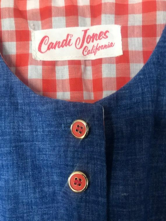 Mint Condition 70's Candi Jones California Denim … - image 4