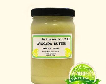 2 lb / 32 oz Organic 100% Pure Avocado Butter Great Moisturizer