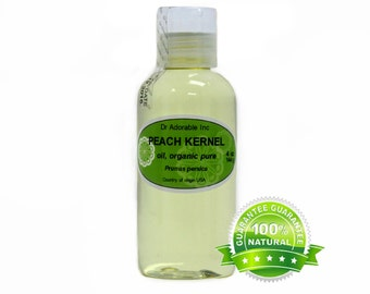 4 OZ Peach Kernel Oil 100% Pure Organic Cold Pressed