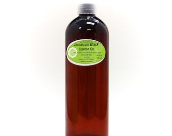 16 OZ Pure Jamaican Black Castor Oil Super Potent Strengthen Grow & Restore Hair Care Organic