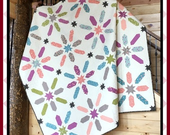 Wishes - HARD COPY Quilt Pattern with 5 size options
