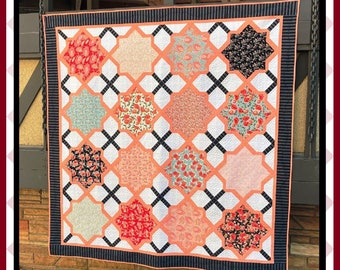 Moroccan Lullaby 2 - PDF Quilt Pattern with 5 size options