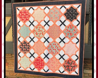 Moroccan Lullaby 2 - HARD COPY Quilt Pattern with 6 size options