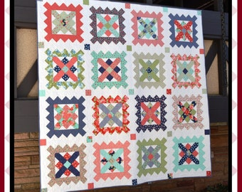 Stamp Collecting - HARD COPY Quilt Pattern with 5 size options