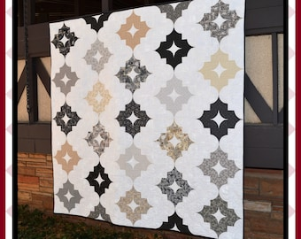 Nordic Nights - HARD COPY Quilt Pattern with 5 size options