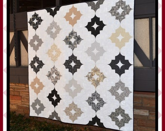 Nordic Nights - PDF Quilt Pattern with 5 size options