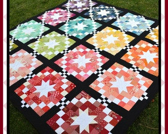 Scraptastic Stars - HARD COPY Quilt Pattern with 5 size options