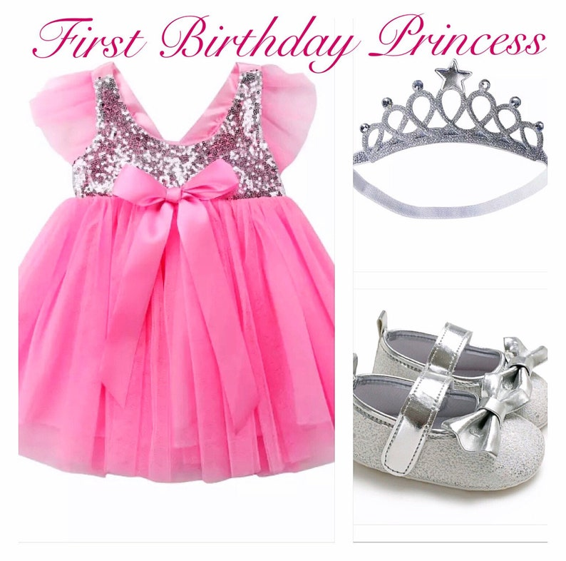 cba496a37322d FREE SHIP baby girl first birthday set Photoshoot outfit smash cake outfit  Baptism outfit romper dress sequins
