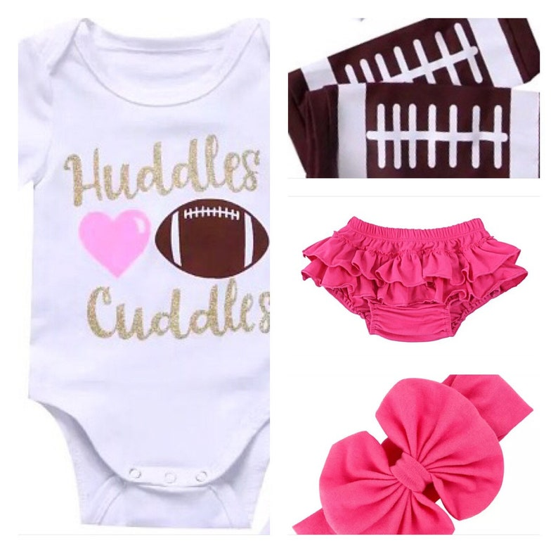 f4a94871607 Baby Girl Football Dresses Football romper set baby girl