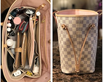 c3f3259ed26f fits Louis Vuitton Neverfull GM   Purse Organizer Shaper   14.5 x 7 x 7H    You Choose the Color   Stiff wipe-clean bottom   flexible ends
