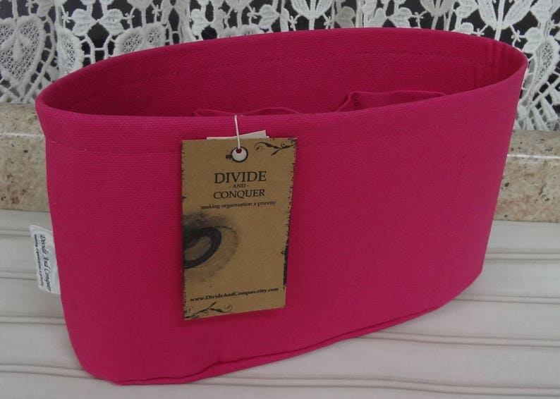 Fuchsia  Purse ORGANIZER Insert SHAPER  Flexible or Stiff Bottom  STURDY  5 Sizes Available  Check out my shop for more colors /& styles