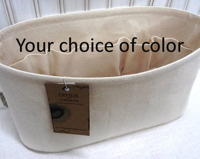 """Oval 14"""" x 5"""" and 6"""" or 7"""" Height / Purse ORGANIZER Insert Shaper / With wipe-clean bottom / Sturdy & Durable / You Choose the Color"""
