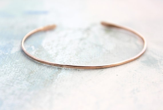 Dainty  Cuff Bracelet Personalised Rose Gold Cuff Bracelet Bridesmaid Bracelet Rose Gold Jewelry Bridal Bracelet college student gift
