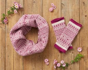 Fair Isle snood, infinity scarf, wool snood, loop scarf, cowl scarf, pastel cowl, wool cow scarf, fair isle cowl, women wool cowl, circle