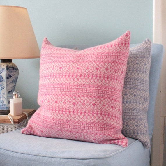 gro e kissen kissen knitted fair isle xy kissen sofa etsy. Black Bedroom Furniture Sets. Home Design Ideas