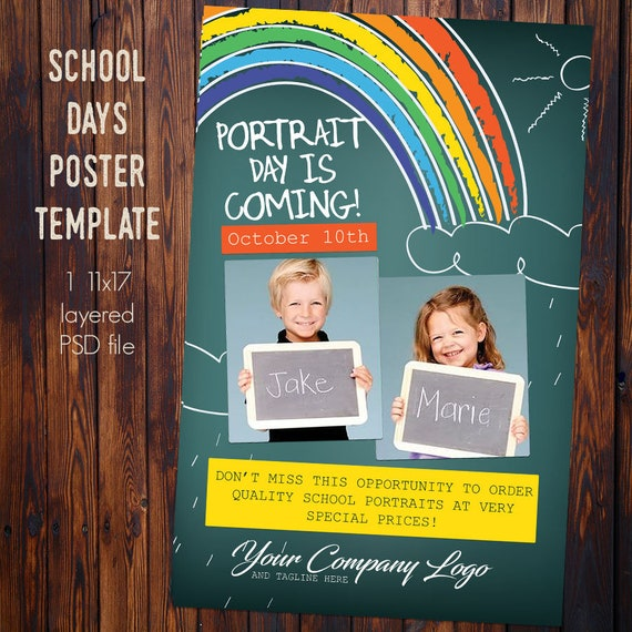11x17 poster template photoshop file only etsy