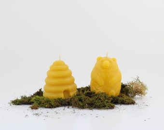 Bear and Hive Organic Beeswax Candles. Set of 2.
