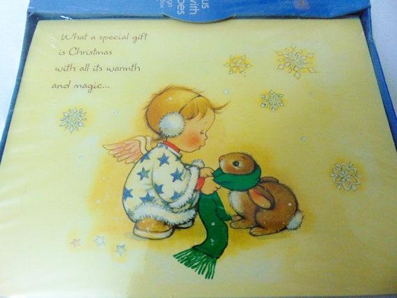 Vintage unbenutzt religiöse Weihnachtskarten Angel Child b | Etsy