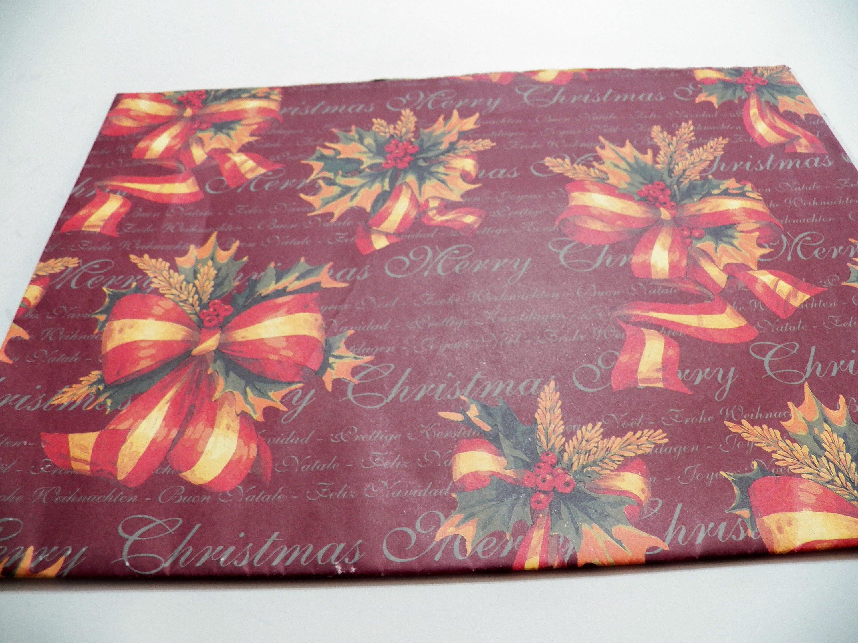 Vintage Weihnachten Geschenkpapier Papier Vintage Urlaub | Etsy