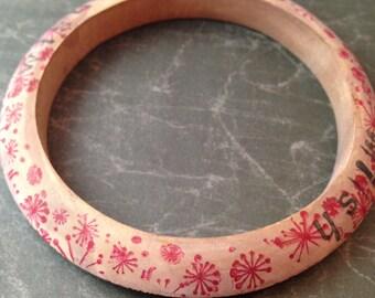 Dandelion Wish Bangle Bracelet