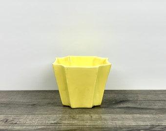 Vintage General Ceramics Yellow Planter