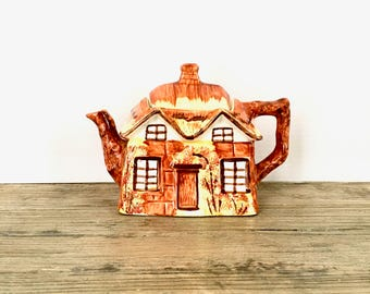 Vintage Cottage teapot /Price Kensington Thatched Roof Cottage Ware