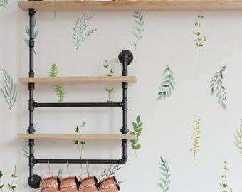Vinyl Wall Sticker Decal Art - Botanical Foliage