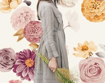Vinyl Wall Sticker Decals - Victoria Florals Decals