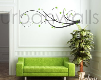Vinyl Wall Sticker Decal Art - Swirl Away