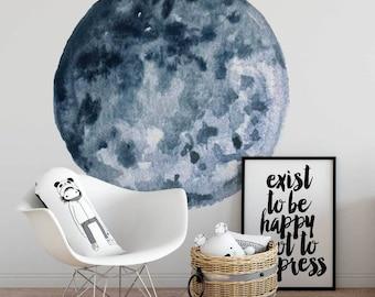 Vinyl Wall Sticker Decal Art - Blue Moon