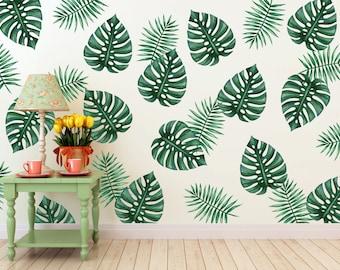 Vinyl Wall Sticker Decal Art - Palm Branches
