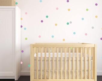Vinyl Wall Sticker Decal Art - Pastel Confetti 3 inches wide