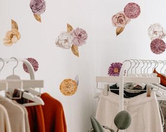 Vinyl Wall Sticker Decal Art - Mini Victoria Floral Decals