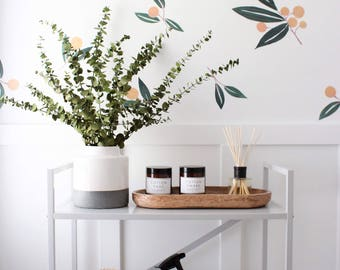 Wall Decal- Tangerines in Green