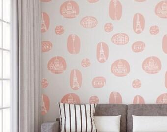 Vinyl Wall Sticker Decals - Paris