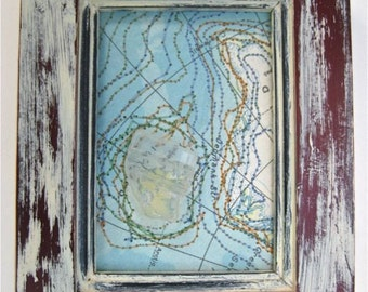 Iceland Altered Map Art